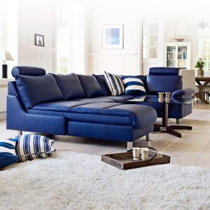Living Room Ideas With Blue Leather Sofa