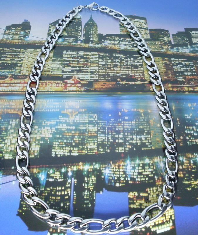Collana Acciaio Lucido 56 cm Hip Hop Rap moda NY novita prezzo ...