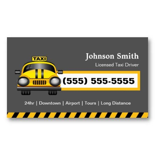 Urban Taxi Driver Chauffeur Yellow Cap Business Card Zazzle Com Taxi Taxi Driver Business Cards