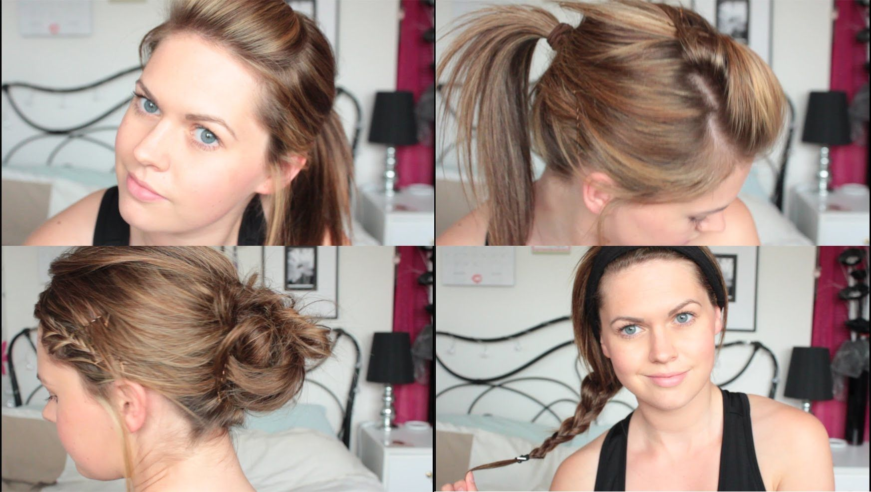 quick u easy hairstyles for a gym workout tutorial hair