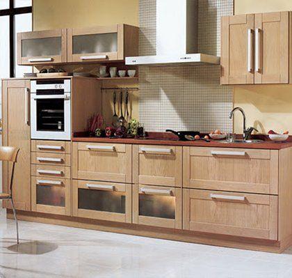 Cocina moderna de madera cocinas claras pinterest for Cocinas claras modernas