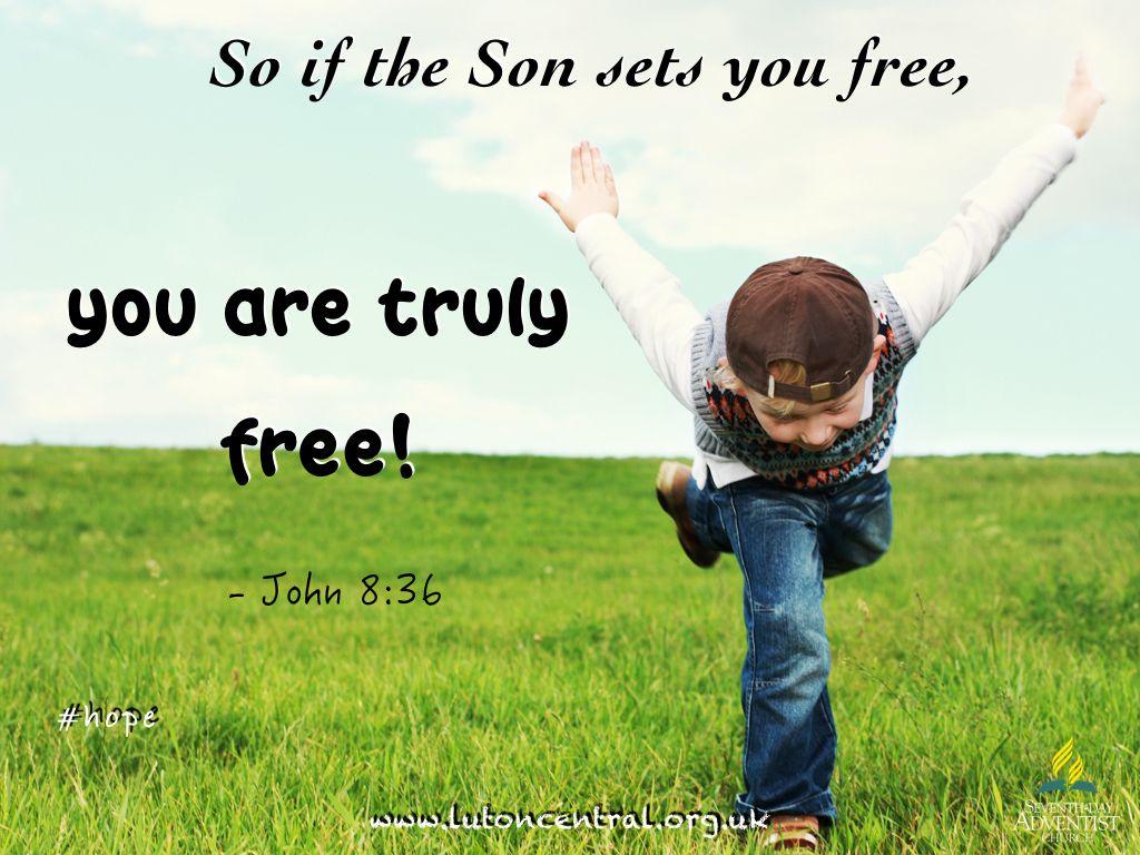 John 8 35 Hope Freedom Jesus Encouragement Verseoftheday Bible Scripture Set You Free Poster Christian