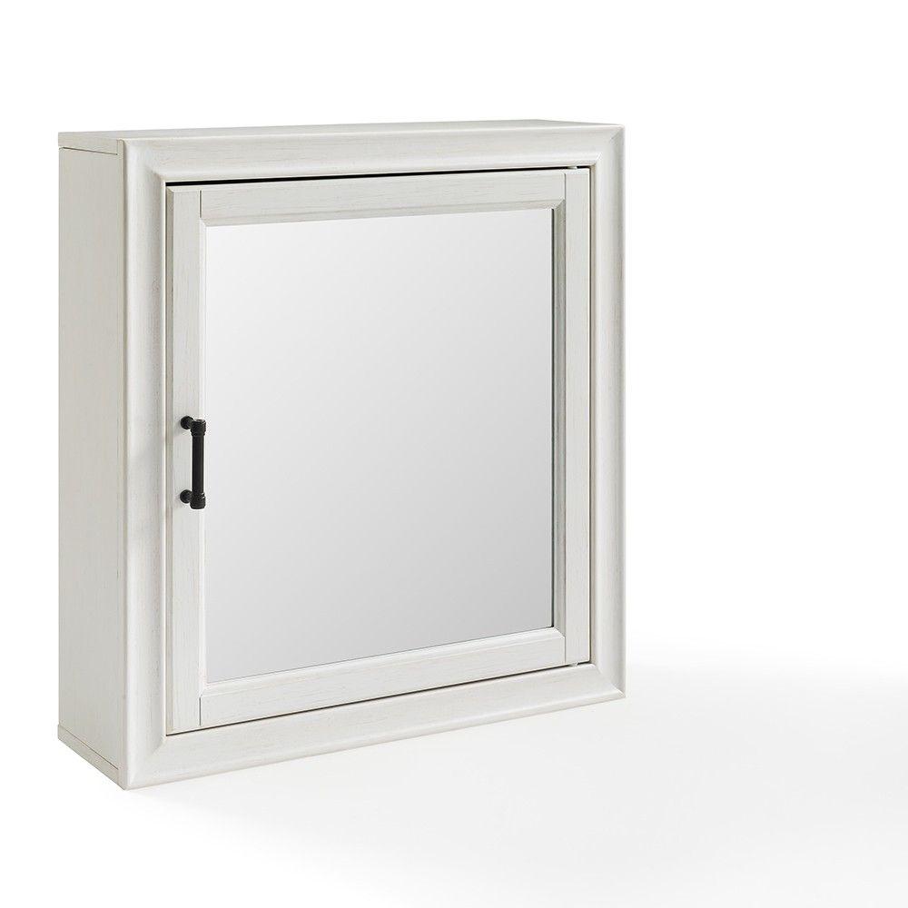 Tara Bath Mirror Decorative Wall Cabinet White Crosley Adult Unisex Mirror Cabinets Surface Mount Medicine Cabinet Adjustable Shelving