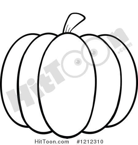 Cartoon Of A Black And White Outlined Pumpkin Royalty Free Vector Clipart 1212310 Clip Art Pumpkin Outline Pumpkin Clipart