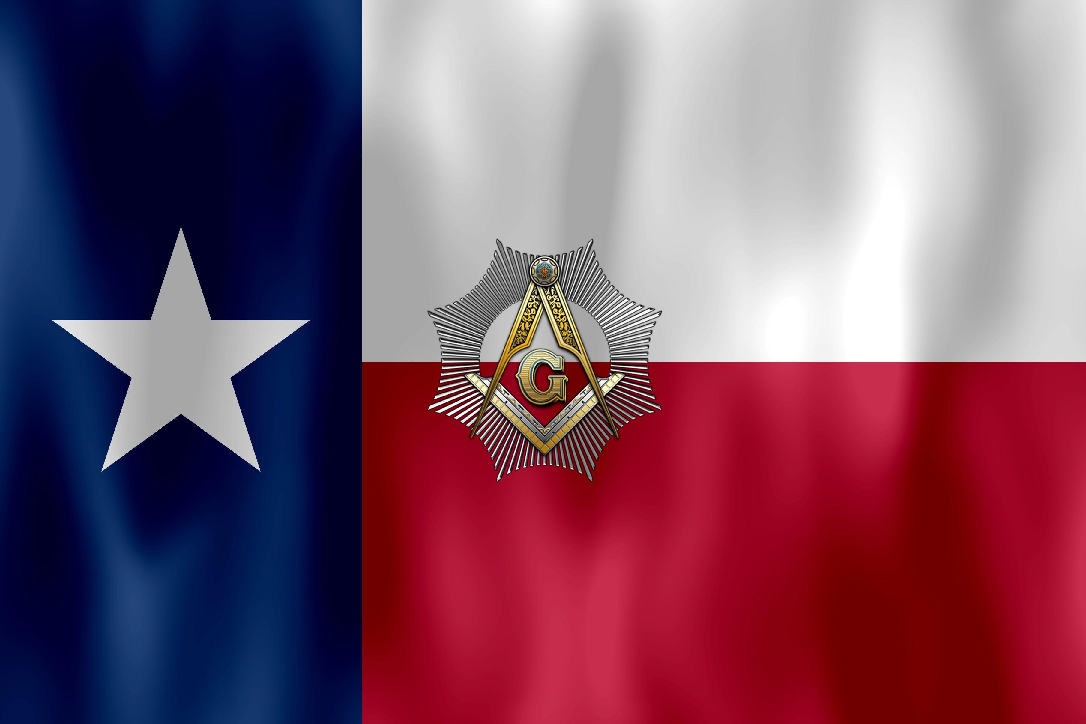 Texas Flag Square & Compass wallpaper | Freemasons | Texas