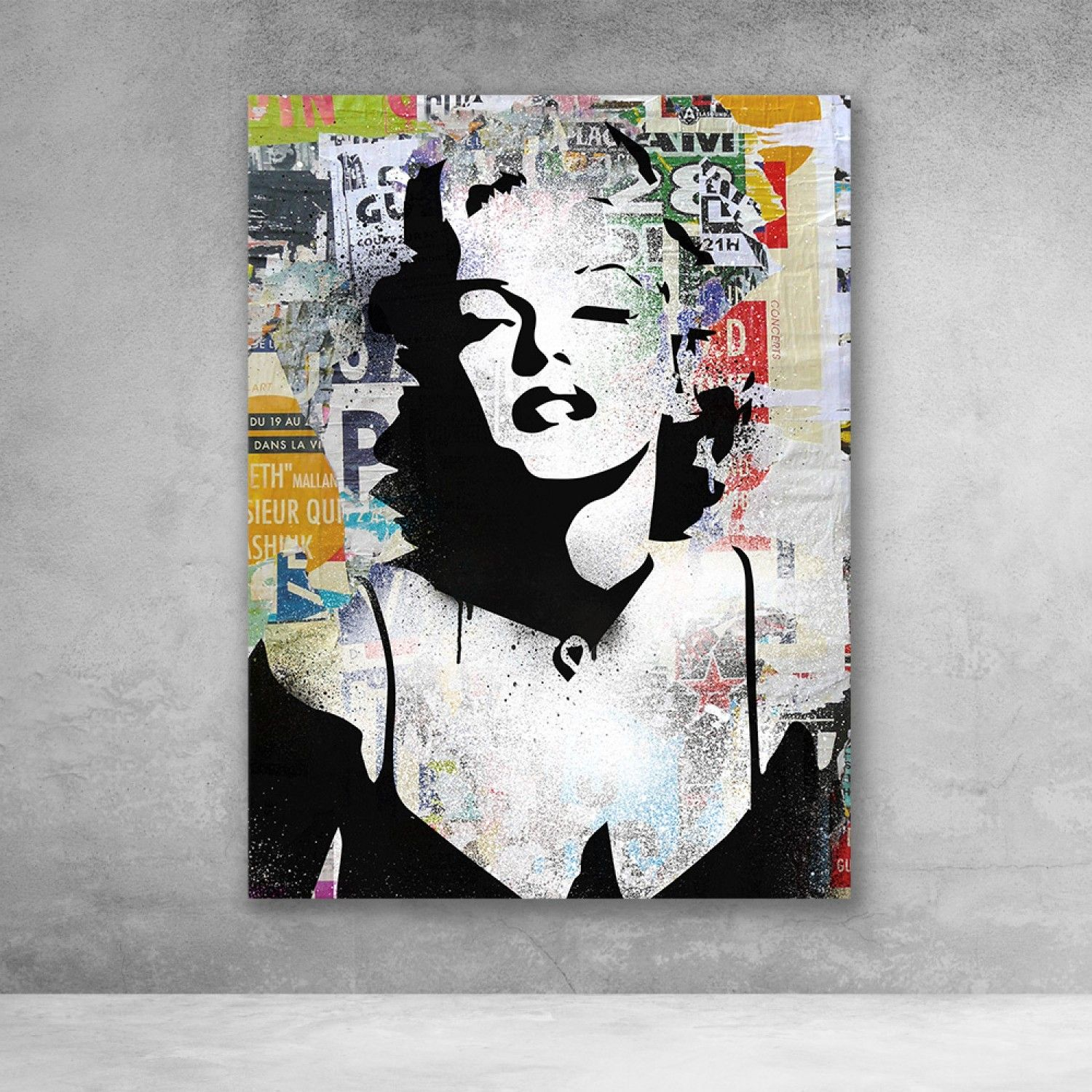 Marilyn Monroe Decollage Pop Culture Modern Canvas Wall Art In 2021 Pop Art Canvas Modern Wall Art Canvas Wall Art Canvas Prints