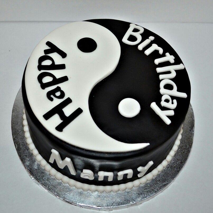 Yin Yang Birthday Cake Mate S Cakes And More Birhday
