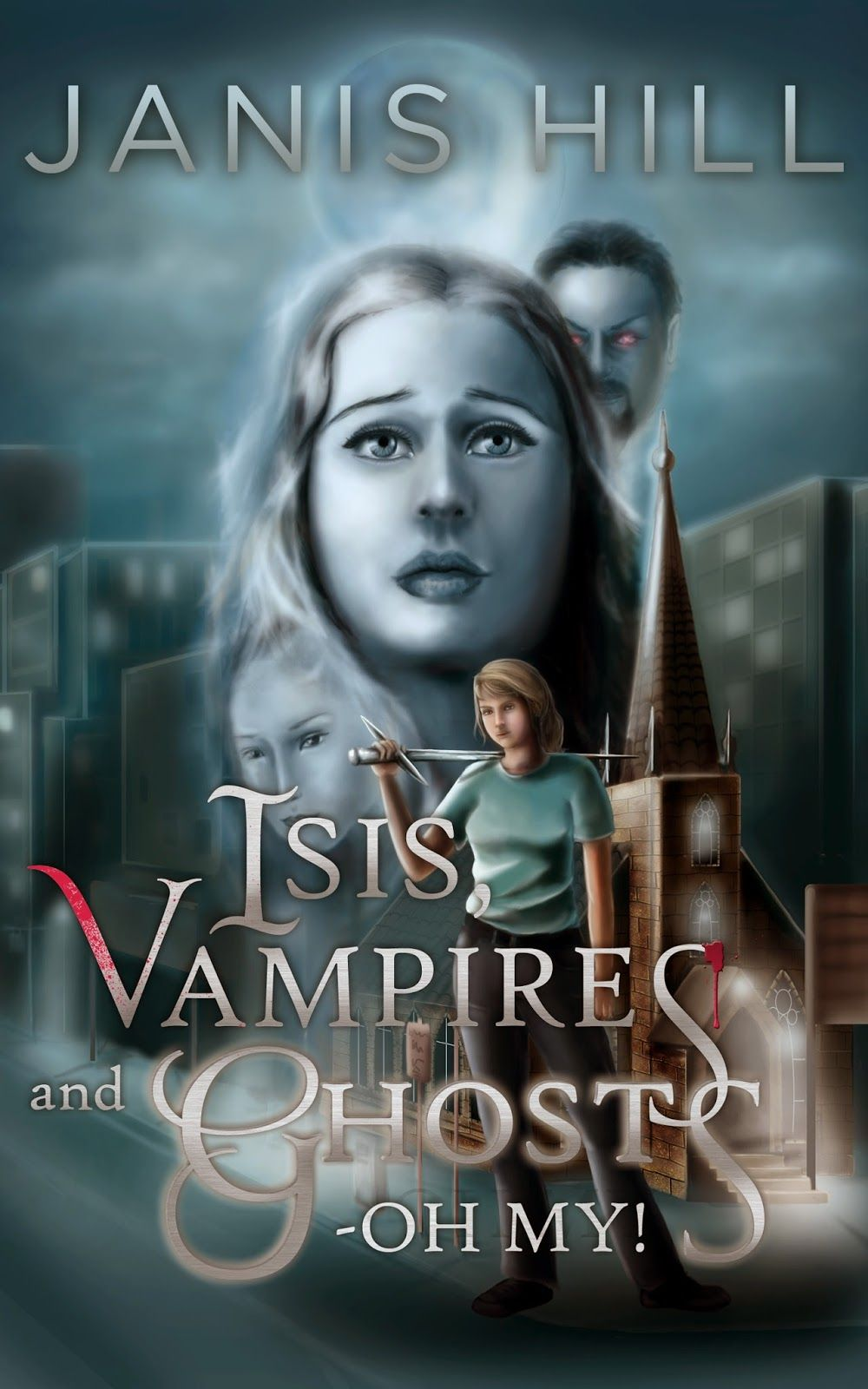 Isis, Vampires and Ghosts—Oh My! by Janis Hill Other World Bk1 http://coverreveals.blogspot.com/2014/09/cover-reveal-isis-vampires-and-ghostsoh.html When Stephanie discovers her estranged, wild-child little sister has died, she finds Estella's death is not necessarily as terminal as she'd been lead to believe, and rather than dead, her sis is more of the undead variety. Must try to save her soul from the vampire who has possessed her. Her help? Ghost of a pissed-off monk with a potty mouth