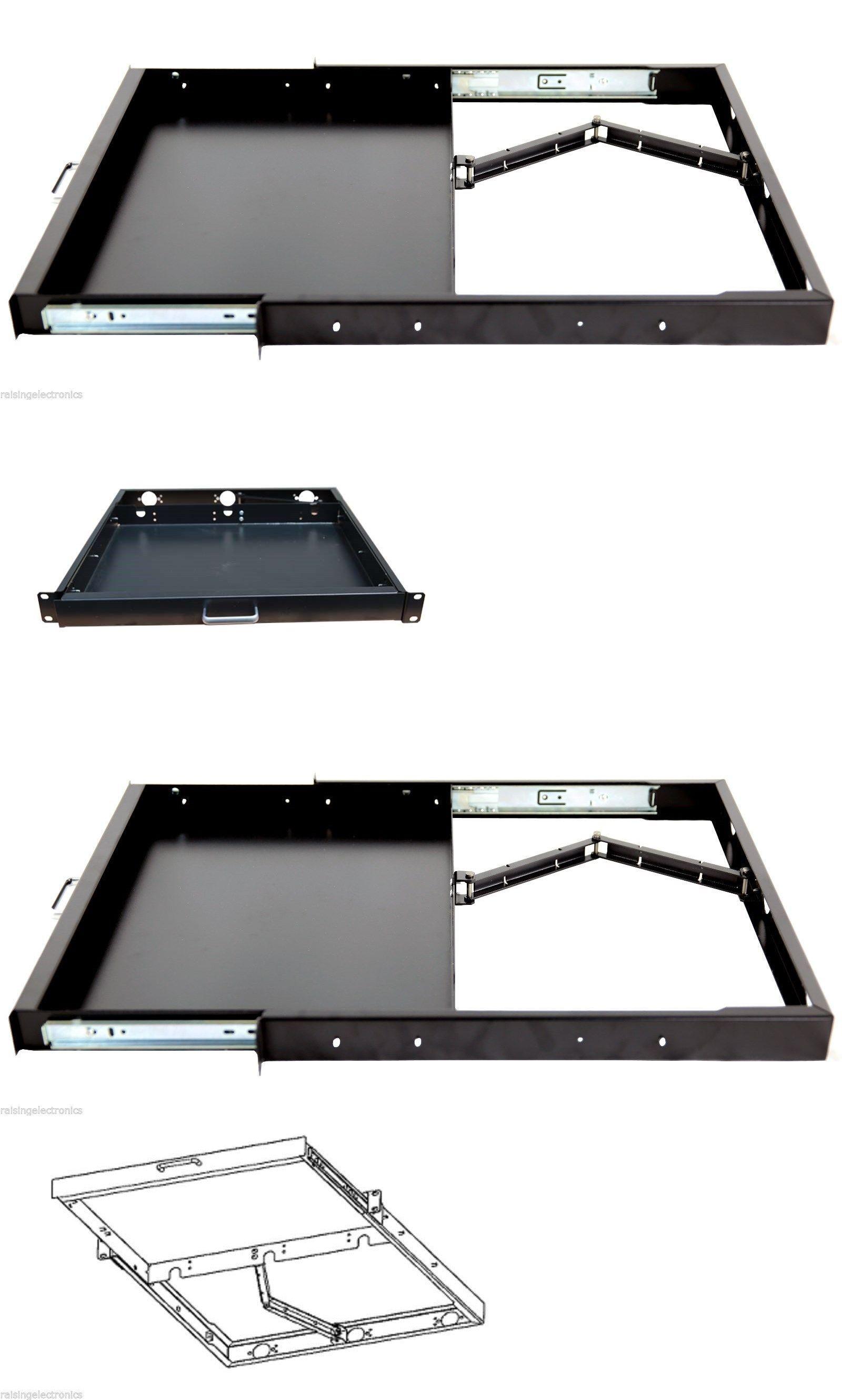 1u rack mount sliding keyboard drawer