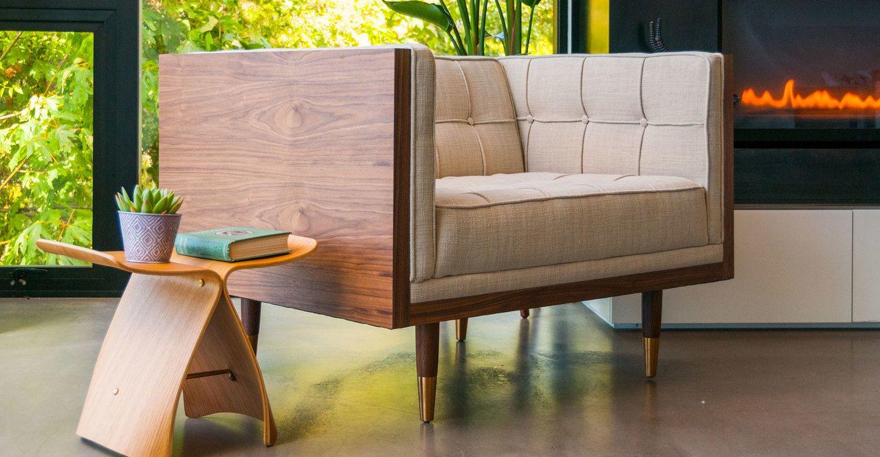 Groovy Woodrow Box Chair Walnut Urban Hemp In 2019 Upscale Ibusinesslaw Wood Chair Design Ideas Ibusinesslaworg