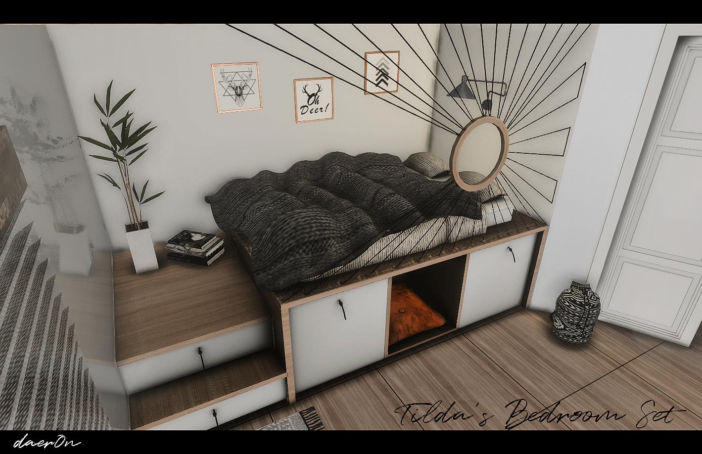 Tilda's Bedroom Part I UPDATED 12/14/2018 daer0n Sims