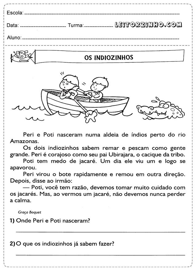 Excepcional Atividades de português 3° ano interpretação de texto | Owen  JH26