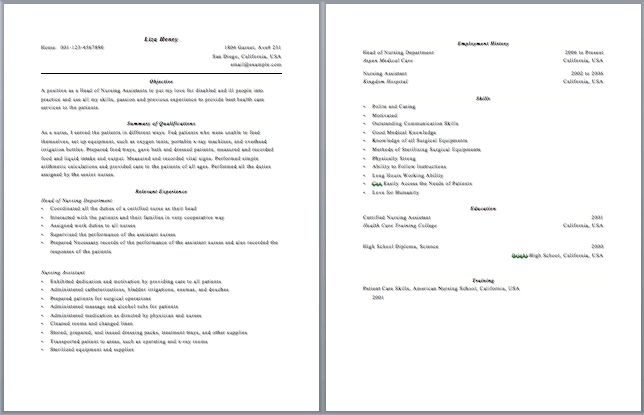 2 Page Resume Format Examples Resume Examples Pinterest Resume - Examples Of Resumes For Restaurant Jobs