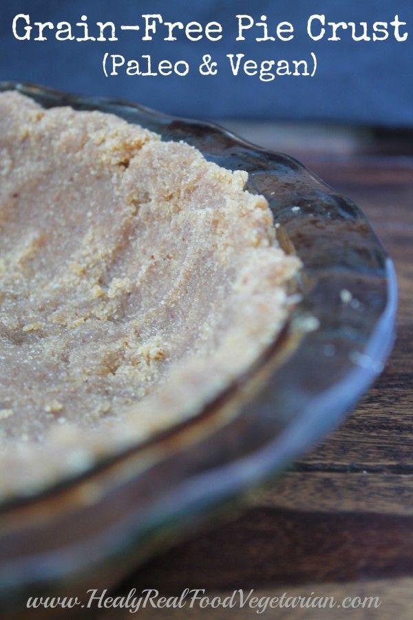 Grain-Free Pie Crust (Paleo & Vegan) @ Healy Eats Real #paleo #vegan #pie #grainfree #glutenfree