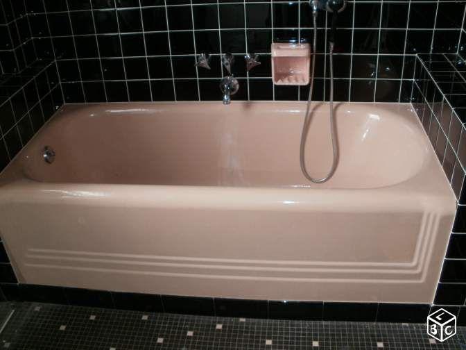 Baignoire fonte+bidet+lavabo rose | Salle De Bain Fille ...