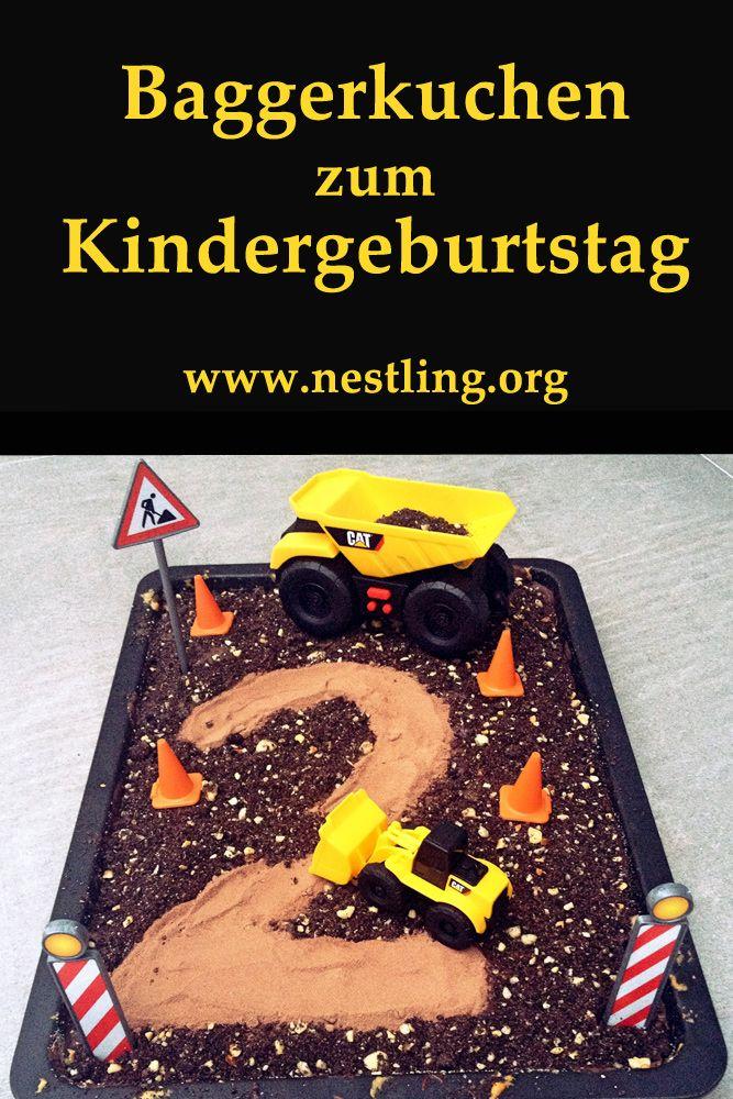 Geburtstagskuchen Bagger Baustelle Kindergeburtstag