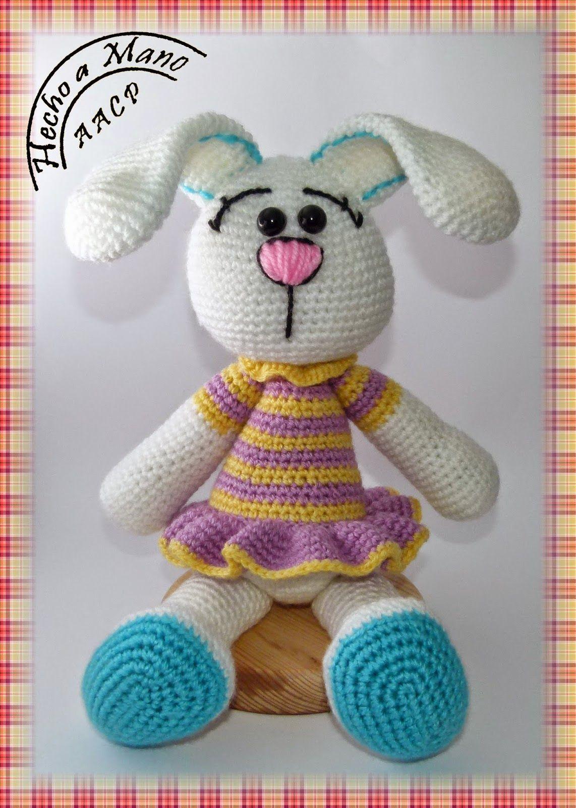 Coneja de colorines amigurumi | Amigurumis para bebés | Pinterest ...