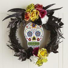 pier 1: day of the dead sugar skull wreath $31.96