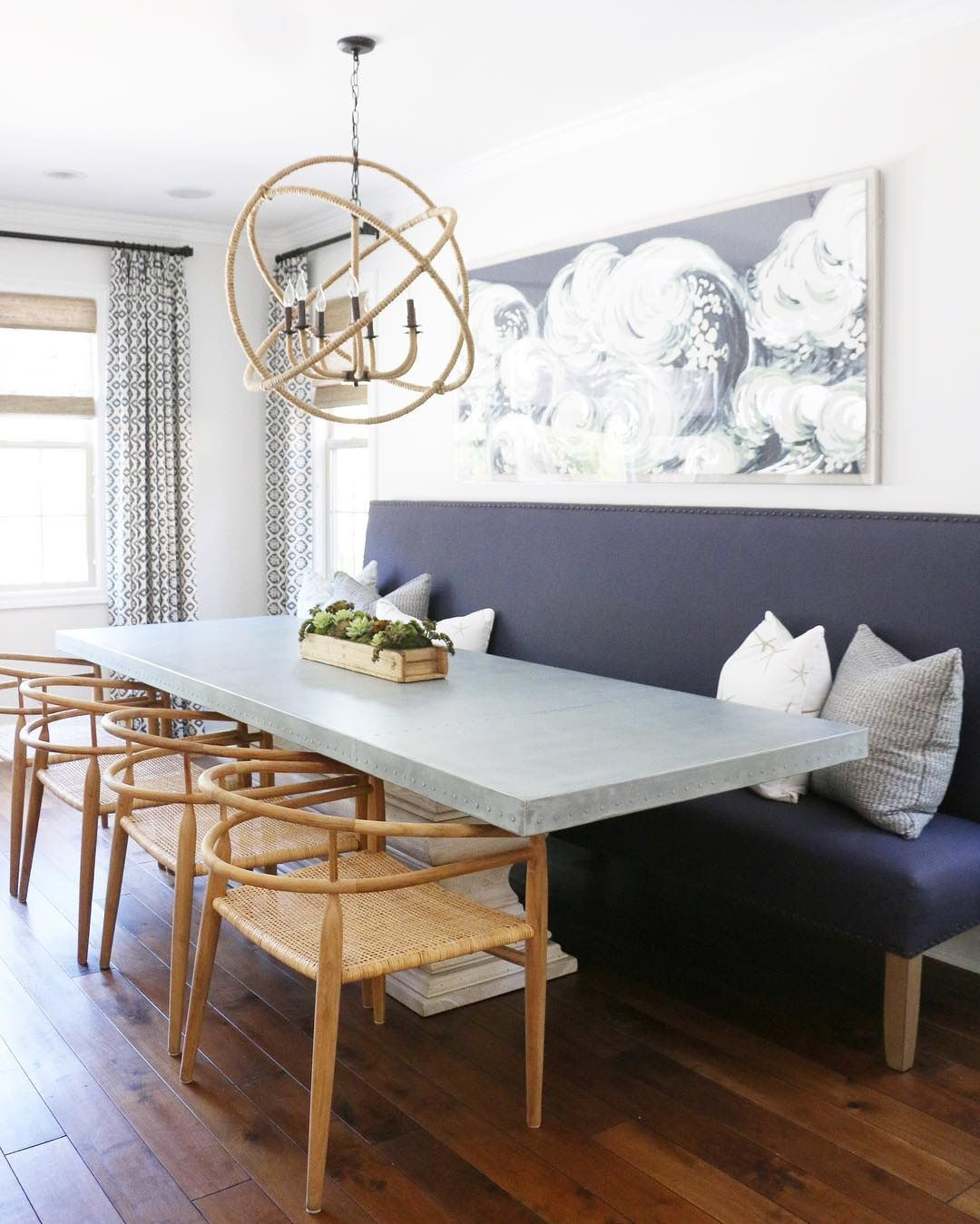 Dining Room Ideas Try A Banquette In Place Of Chairs For More Style And Seating Space Dining Room Seating Dining Table With Bench Dining Room Banquette