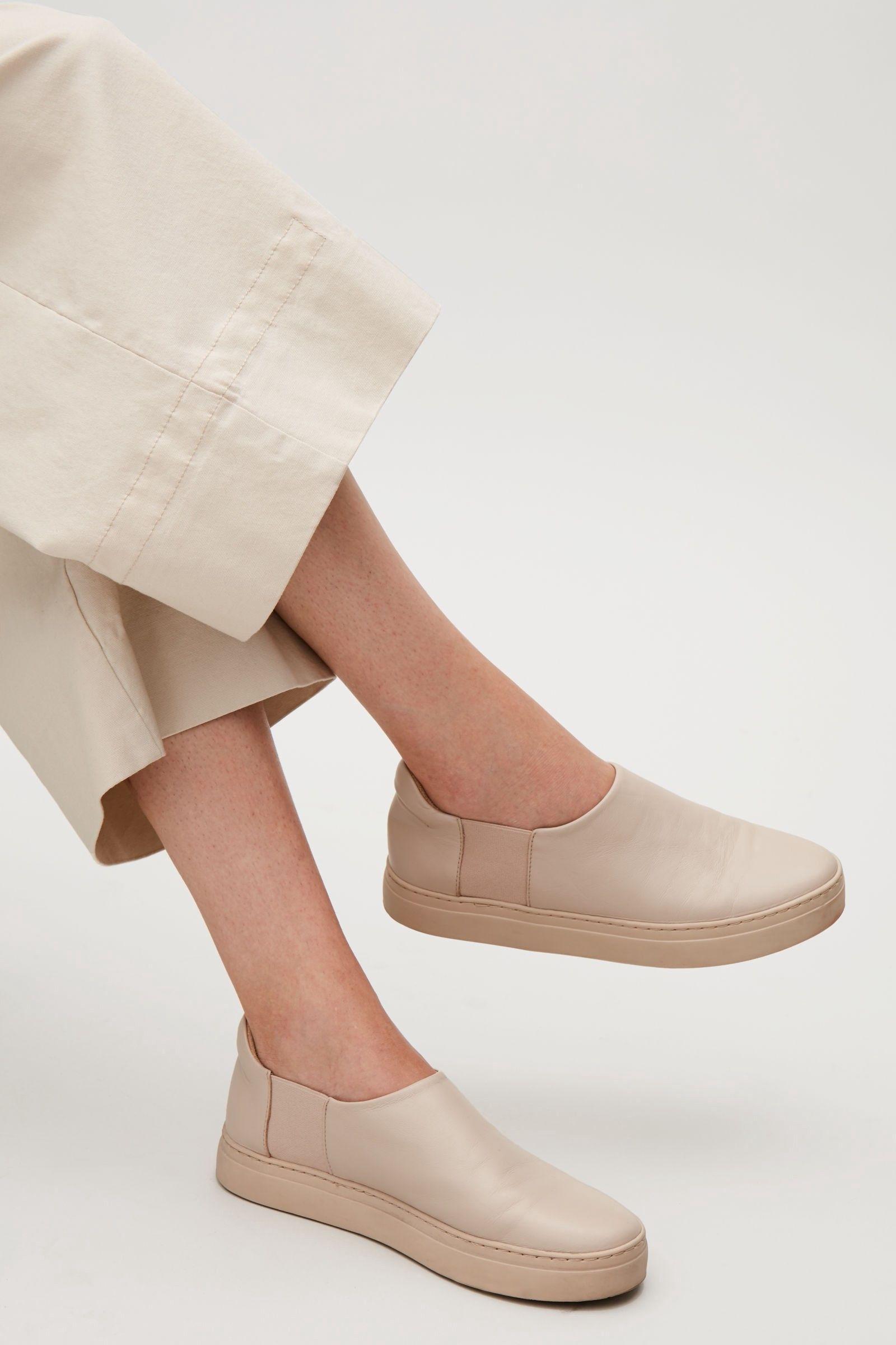 super popular 1f95b b0c86 Cos Slip-On Leather Sneakers - Sand 9.5 Adidas Nmd Xr1 Pk, Vans Sneakers