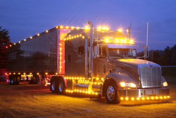 Lighting Up The Night Semi Trailers Trucks
