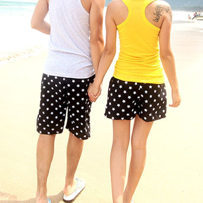 d1ace58c40 Buy from china:Women Men Beach Shorts Couples Swimwear New Stars Summer  Swimming Shorts Surf Boardshorts Plus Size Lovers Swimsuit