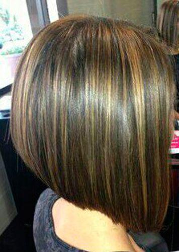 Short Bob With Caramel Highlights Google Search Hair Color