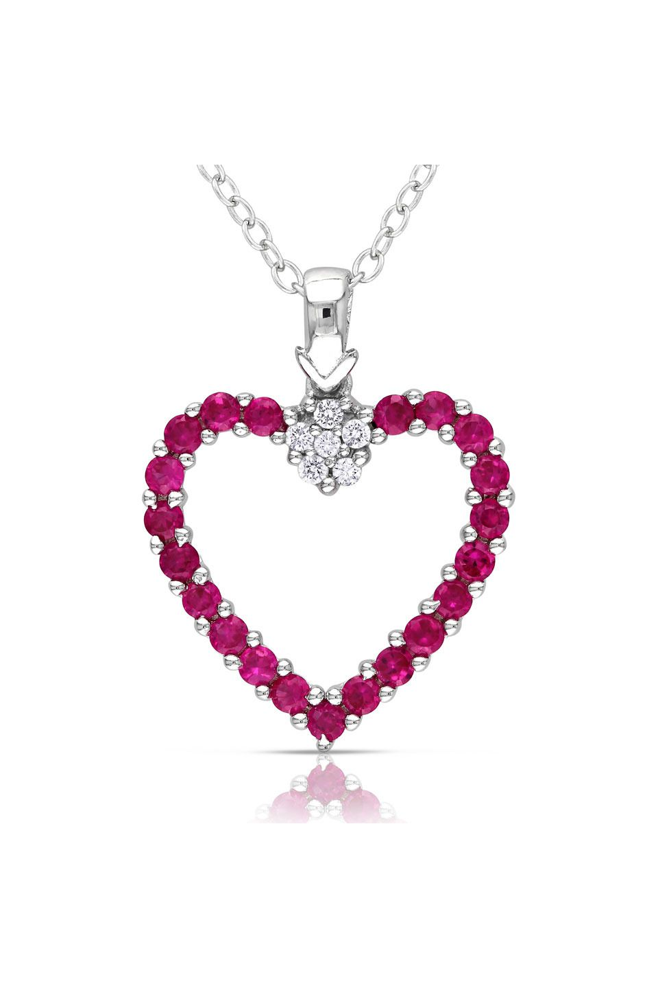 Ruby heart pendant jewelry u accessories pinterest pendants