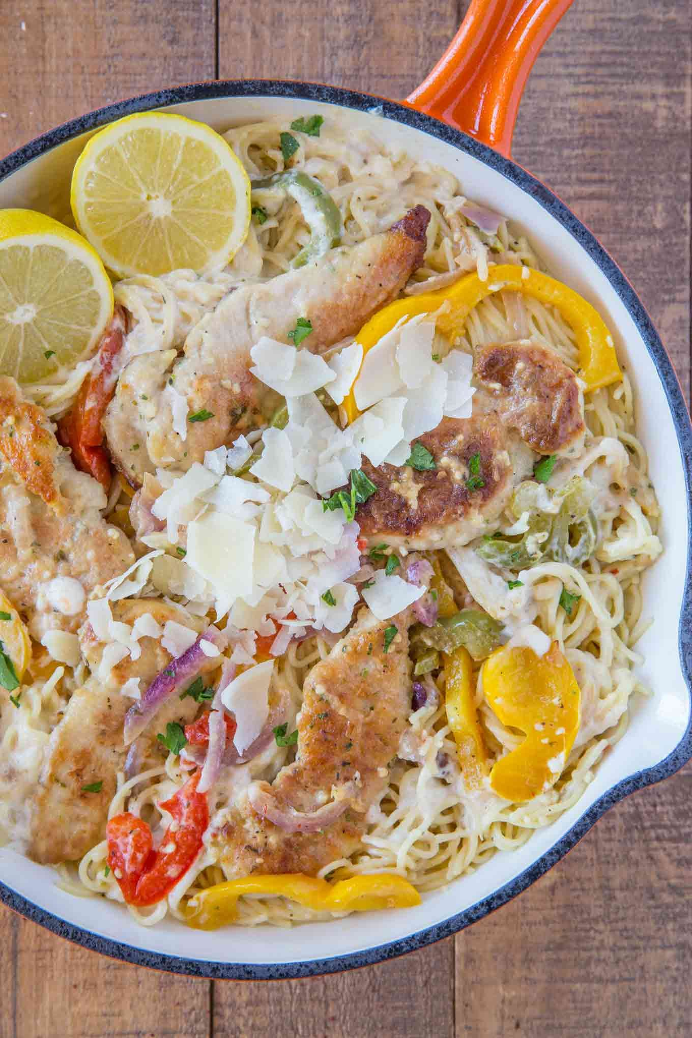 Olive Garden Chicken Scampi Pasta copycat made with a