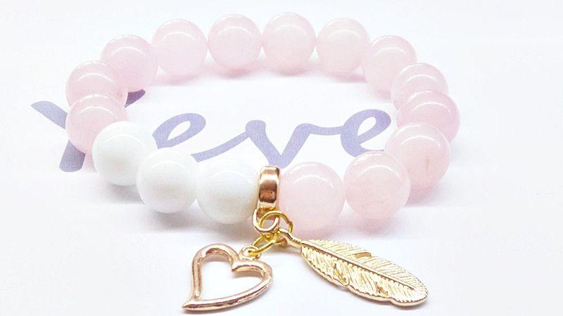 Bransoleta+Agat+Kwarc+Kamień+12mm+w+Yeve+jewelry+na+DaWanda.com