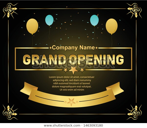 Grand Opening Vector Background Template Banner Stock Vector Royalty Free 1463093180 Grand Opening Background Templates Vector Background