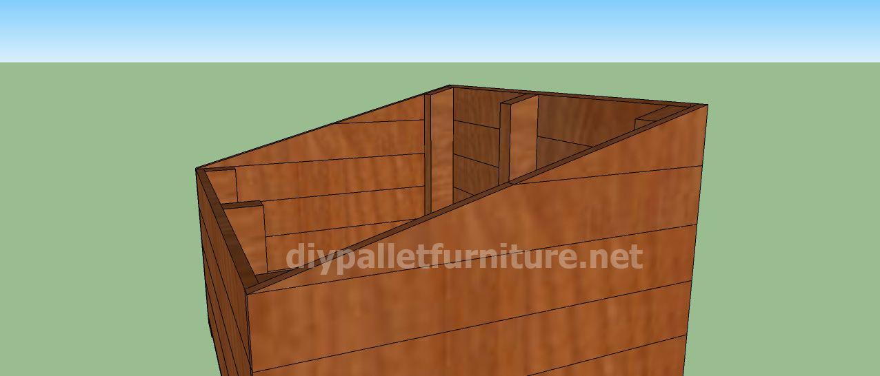 Projet et des plans pour construire une niche pour chien avec des