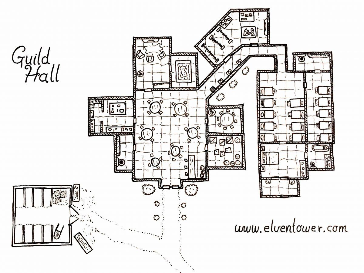 Guild Hall Map Rpg Maps Pinterest Dungeon Maps