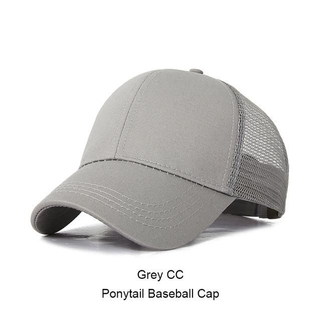 b91227e7a0efb5 ISummer Baseball Cap Women Snapback Hat 2018 Glitter Ponytail Baseball Hat  Mesh Hats Fashion Snapback Cap Drop Shipping HOT SALE