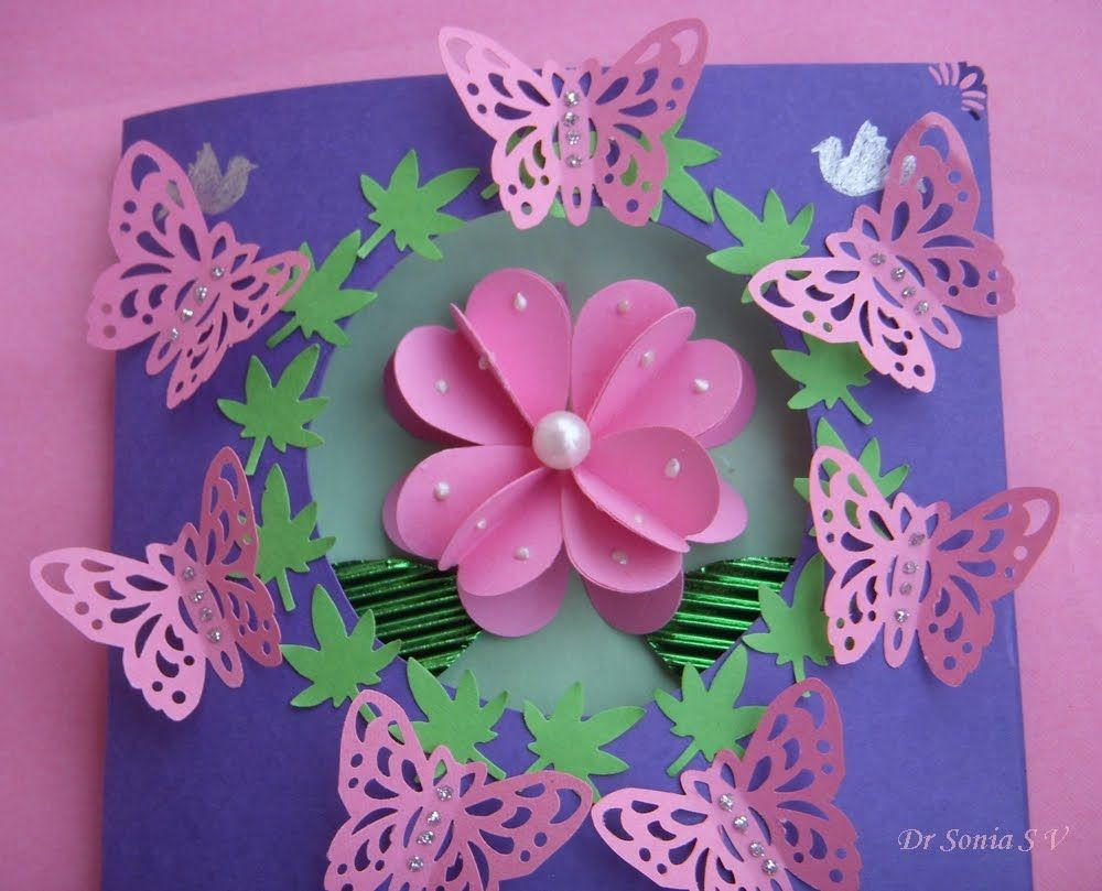 Cards crafts and kids projects heart punch d flower tutorial