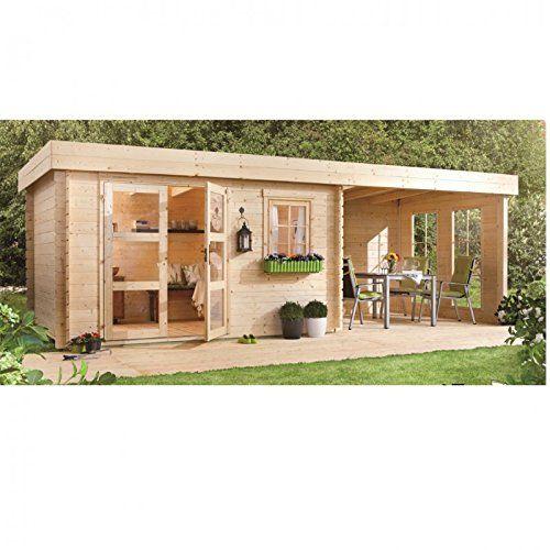 Lillevilla 283 Luoman abri de jardin 28 mm 8.5 m² 340x250 cm ...
