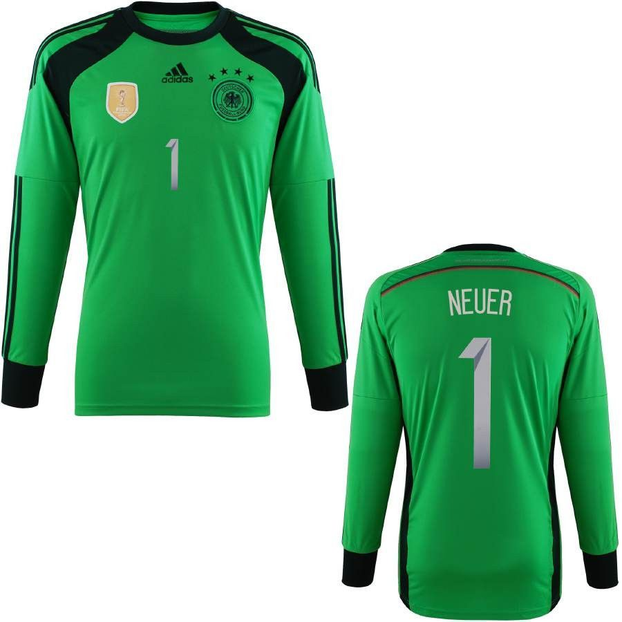 acc0dc026a6 ADIDAS MANUEL NEUER GERMANY GOALKEEPER 4 STAR HOME JERSEY FIFA WORLD CUP  2014 CHAMPIONS.