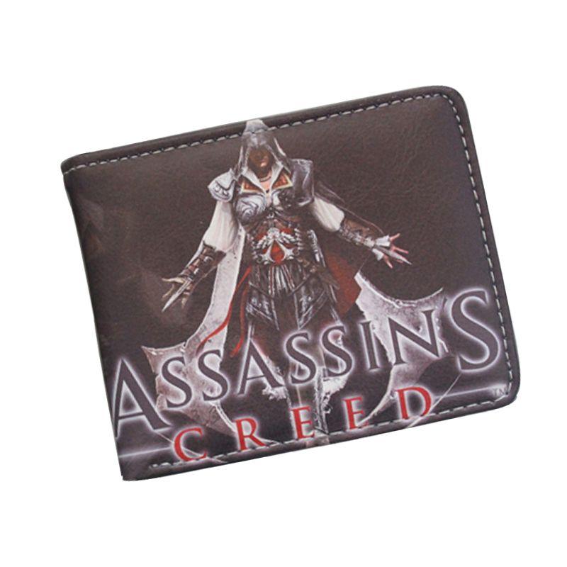 Fajne Assassin Mistrz Assassin Creed Altair Gra Portfel Portfel Dla Mlody Chlopak Dziewczyna Student Skorzane Krotkie Wore Card Holder Leather Money Bag Wallet