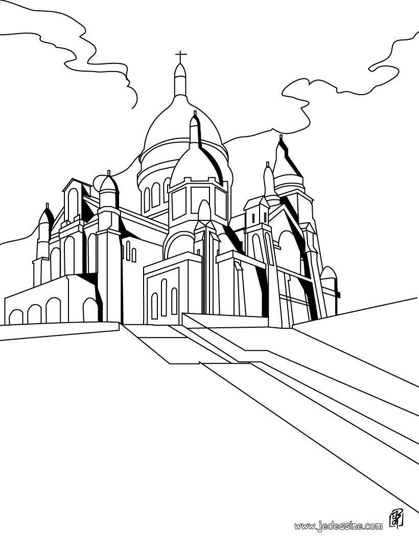 tiktok coloring pages | Coloriage du Sacré Coeur Paris | Sacre coeur, Coloriage ...