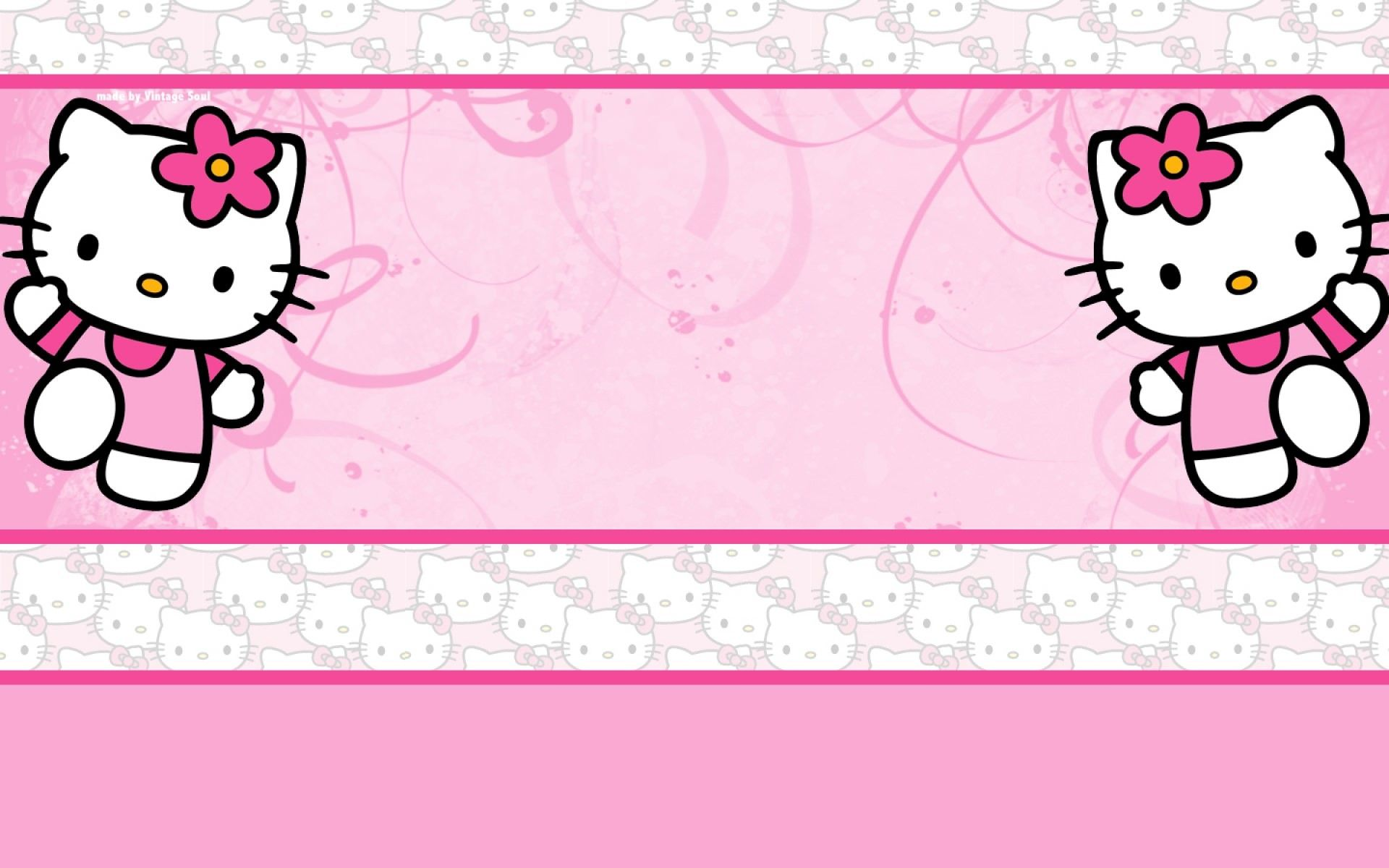 Download Pink Hello Kitty Background 1920x1200 For Android Tablet