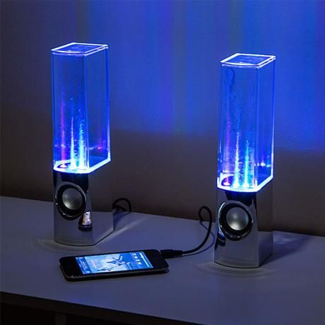 Spice up your music listening experience with a pair of these Dancing Water Speakers. They will connect to any of your 3.5mm audio players, such as MP3 players, tablets, mobile phones, or computers.