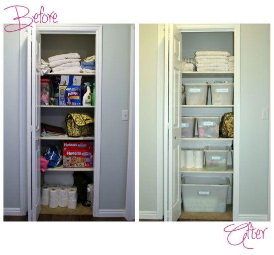 Ikea Linen Cupboard Storage Ideas