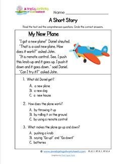 Kindergarten Short Stories - My New Plane | A Wellspring ...