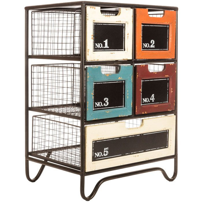 Metal Cabinet with Drawers & Chalkboard Labels | Hobby ...