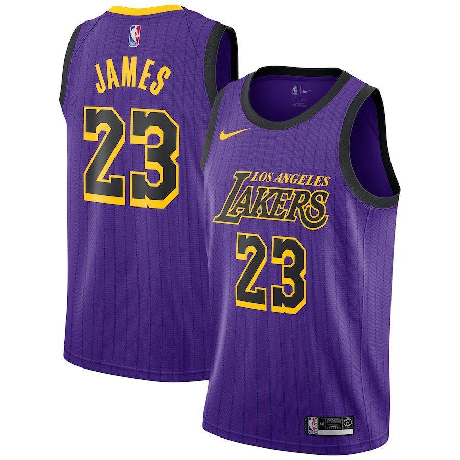 Men S Los Angeles Lakers Lebron James Purple City Edition Jersey In 2020 Los Angeles Lakers Lebron James Purple City