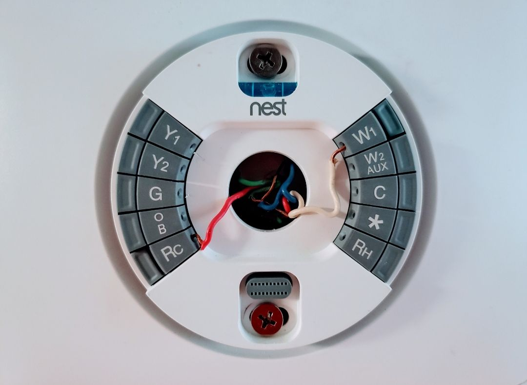 Nest Thermostat 2 Wire Hookup Onehoursmarthome Com Nest Thermostat Nest Smart Thermostat Thermostat Wiring