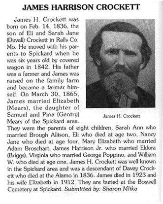 James Harrison Crockett (1836-1923) - Biographical Sketch
