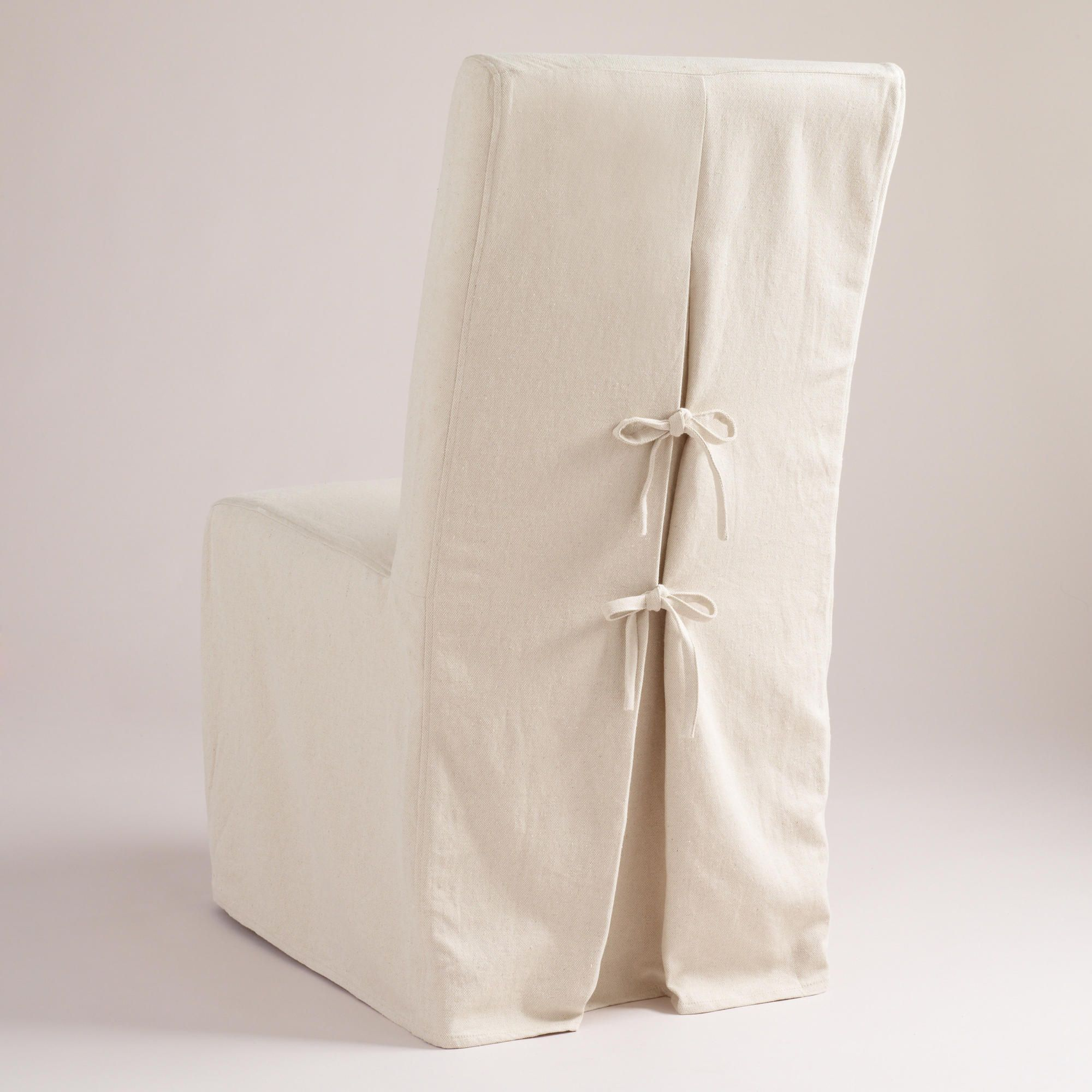 Linen Anna Long Chair Slipcover