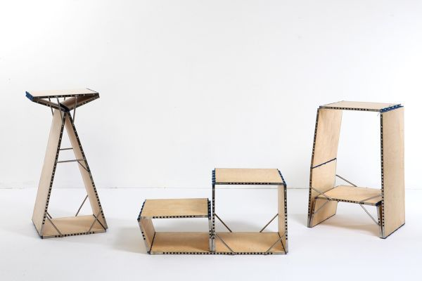 space saving folding furniture. Loop: Multifunctional Piece Of Furniture Transforms Into A Chair, Chaise, Bookshelf Or Table Space Saving Folding