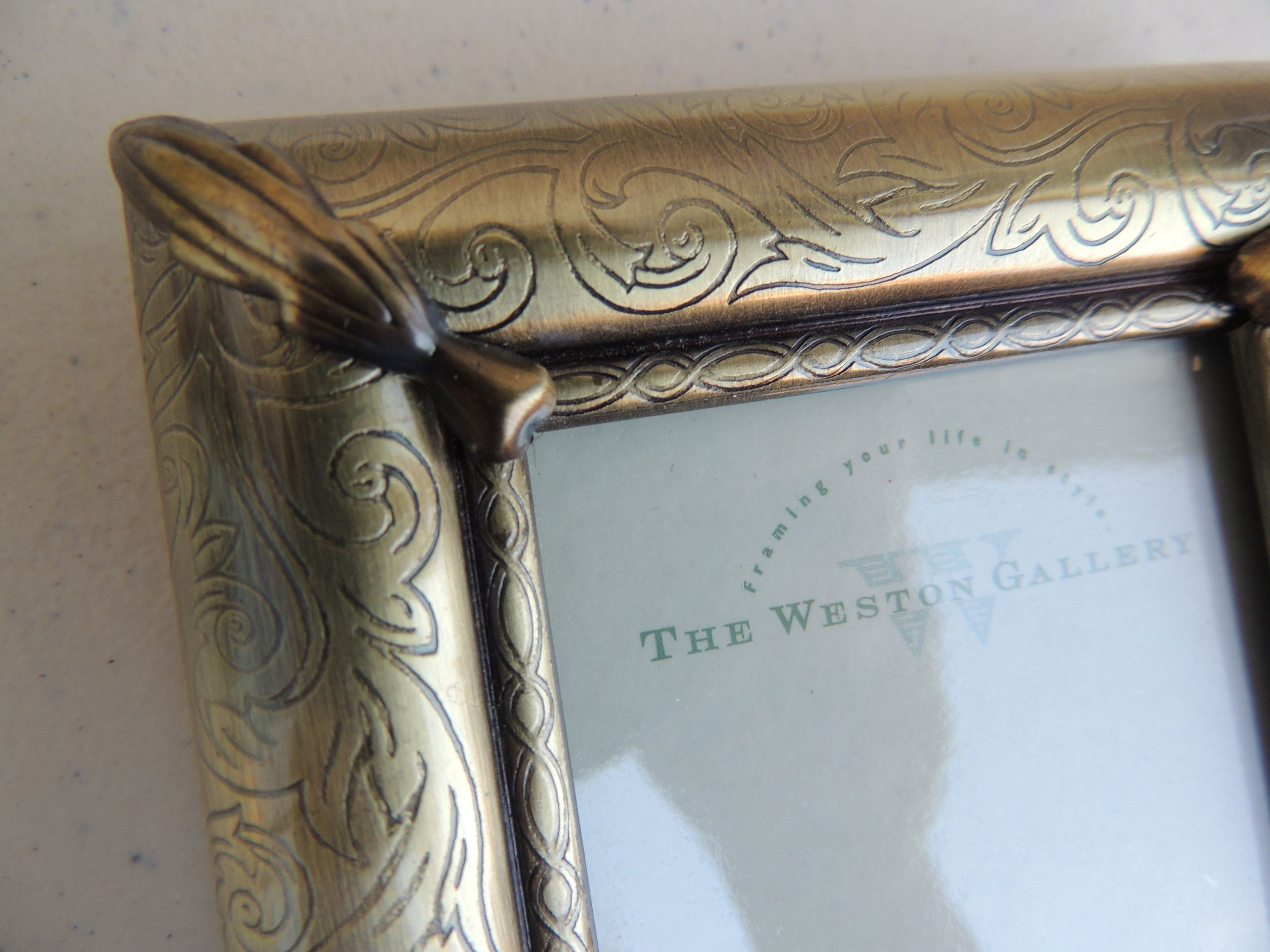 Vintage The Weston Gallery Brass Ornate Hollywood Regency Mini Picture Frame Mini Picture Frames Photo Picture Frames Picture Frames